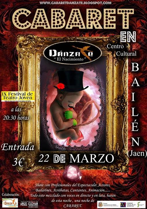 cartel danzate cabaret bailen