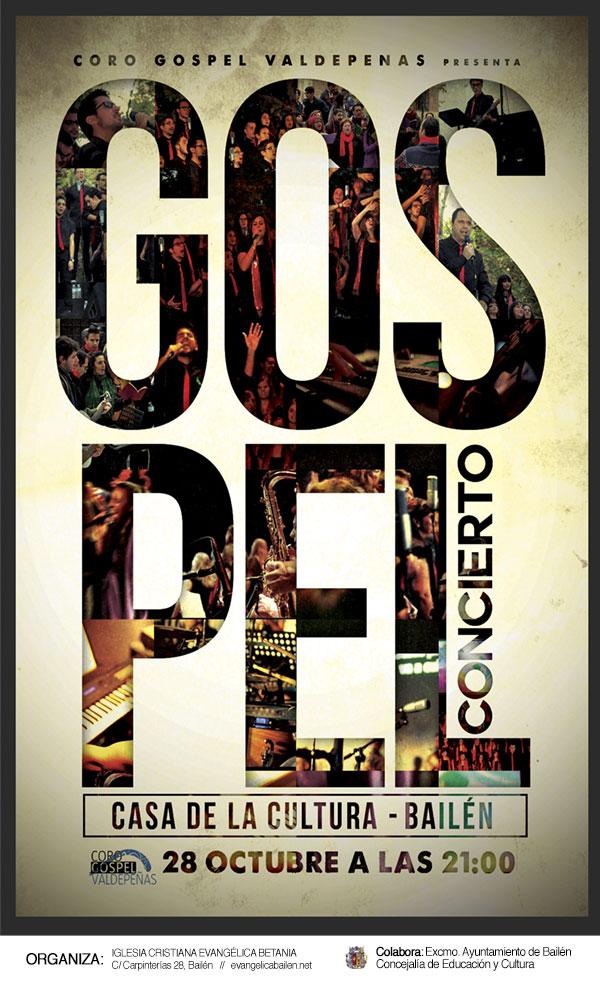 cartel coro gospel en bailen 28 de octubre