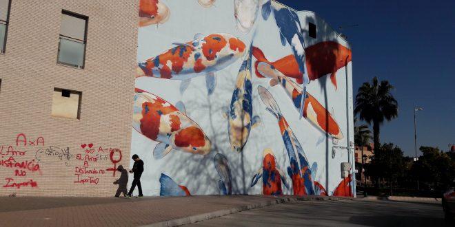 'LOS PECES DEL VIVERO' ES EL SEGUNDO MURAL QUE YA PUEDE CONTEMPLARSE JUNTO AL POPULAR PARQUE DE BAILÉN