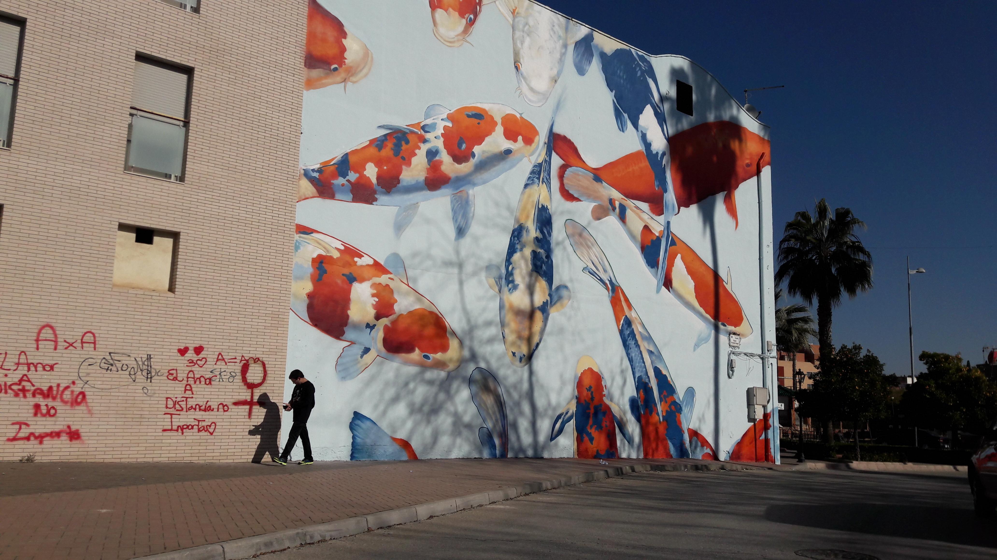 39 los peces del vivero 39 es el segundo mural que ya puede for Vivero para peces