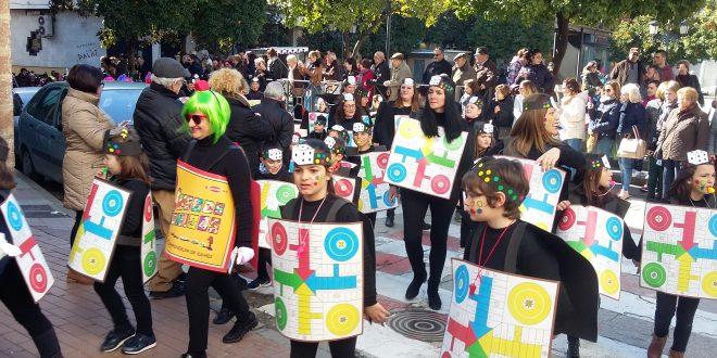 Los escolares tomaron la calle el martes de Carnaval.