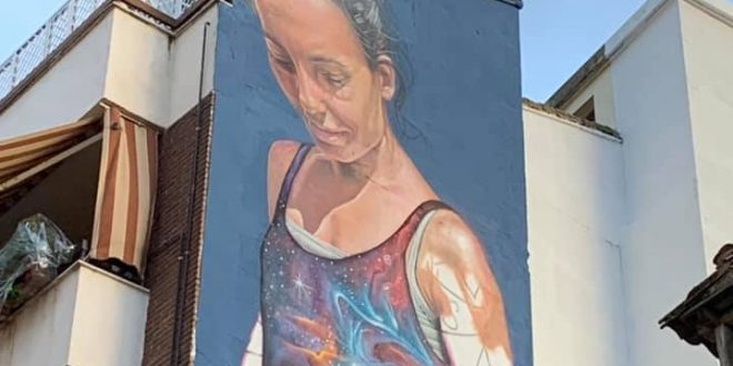 Nuevo mural en el centro de Bailén.