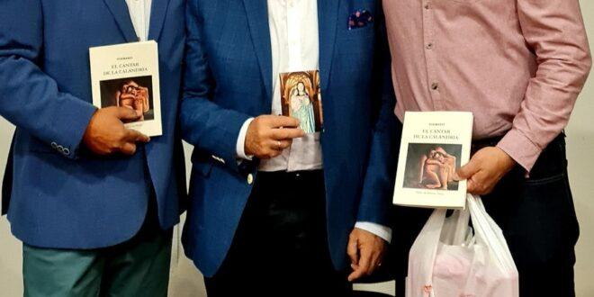 Presentación de un nuevo libro de poemas de Pedro de Manuel.