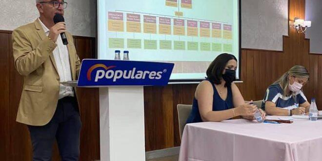 Luis Mariano Camacho, alcalde del la ciudad, reelegido presidente local del PP